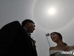 [사진] 대구 상공 '햇무리' 행복 징조?