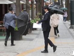 """[오늘 날씨]전국 대부분 비...""""강풍에 체감온도 낮아"""""""