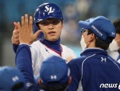 [사진] 볼넷 박해민, 도루 이어 득점