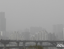 [사진] 황사로 뒤덮인 서울 하늘
