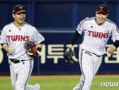 [사진] 환하게 미소 짓는 김민성·김대유