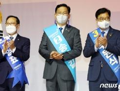 [사진] 박수치는 민주당 당대표 후보자들
