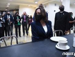 [사진] '시민권 운동 어머니' 로자 파크스 의자 앉은 해리스