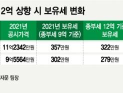 종부세 9억→12억 유력…15억 '마래푸' 보유세 23만원 줄어든다