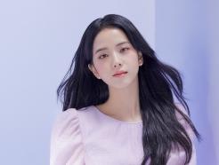 """블랙핑크 지수, 흑발+보라 원피스 """"만찢녀 비주얼"""""""