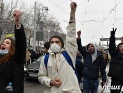 러 경찰, 나발리 지지 시위자 1000명 이상 구금