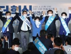 [사진] 인사하는 최고위원 후보자들