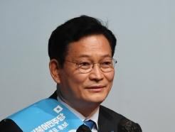 [사진] 지지 호소하는 송영길 민주당 대표 후보