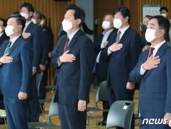 [사진] 돌아온 오세훈 시장과 떠나는 서정협·김학진 행정 1·2 부시장