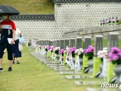 [사진] '폭우에도 5·18참배객 발길'