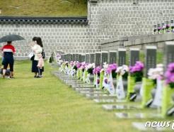 [사진] '묘역 둘러보는 5·18 참배객들'
