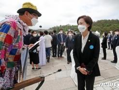 [사진] 5·18 기념식 참석한 유은혜 부총리