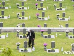[사진] 아들 묘지 찾은 이귀복씨