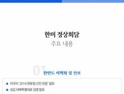 한미 정상회담 수혜주 21개사 총정리-신한투자