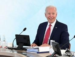 [사진] G7  정상회의 실무회의서 발언하는 바이든