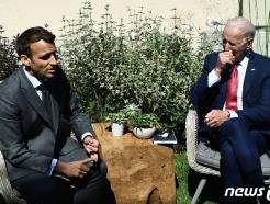 [사진] 양자회담하는 바이든과 마크롱 대통령