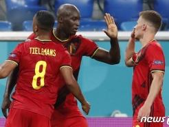 '우승후보' 벨기에, '루카쿠 멀티골'로 러시아 3-0 제압