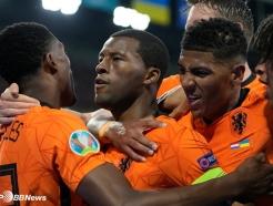 '후반 40분 둠프리스 결승골' 네덜란드, 우크라이나에 3-2 진땀승 [유로]