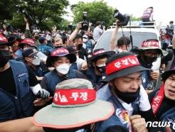 [사진] '과로사 문제 해결 촉구 집회를 위해'