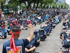 [사진] 상경투쟁 벌이는 전국택배노조원들