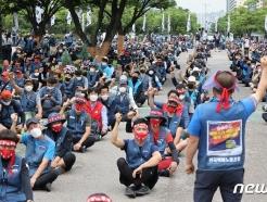 [사진] 상경투쟁하는 전국택배노조원들