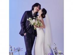 '7월 결혼' 루이♥유성은, 달달 볼 뽀뽀…웨딩화보 공개 [N샷]