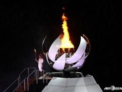성화 최종주자는 '테니스 스타' 오사카... 도쿄 올림픽 본격 시작