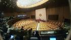 [포토]탄핵 표결, 전운 감도는 9일 오후 국회 본회의장