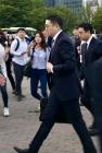 첫 방북길, 바쁜 걸음의 구광모 LG 회장