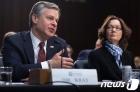 상원 정보위서 증언하는 레이 FBI 국장