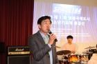 영종청소년가요제, 인사말하는 조광휘 인천시의원