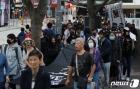 홍콩 중앙정부청사로 향하는 행진행렬
