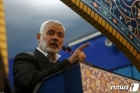 솔레이마니 추모연설하는 팔레스타인 하마스 최고지도자