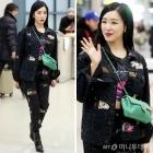 """티파니 영, 공항 패션 잇템은 """"샤넬백+에어팟"""""""
