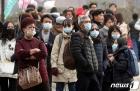 마스크 착용하고 한옥마을 찾은 중국인 관광객