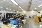 코로나19 관련 브리핑하는 김수영 양천구청장