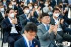 항공박물관 개관식 참석한 우기홍·한창수 사장