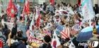 수도권 사회적거리두기 2단계 격상 가운데 집회여는 보수단체