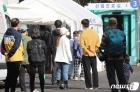 '코로나19 검사 기다리는 시민들'