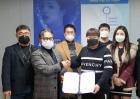 동신대 학교기업, 청광 차단 콘택트렌즈 연구개발 MOU