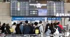 북적이는 김포공항 국내선 탑승층