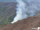 광양 백운산서 화재…산림당국, 헬기 3대 투입 진화 중