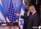 네타냐후 이스라엘 총리 안내받는 오스틴 국방