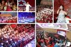 태양절 맞이 공연 펼치는 북한 예술단…김정은 관람