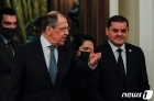 드베이바 리비아 총리 환영하는 라브로프 러 외무