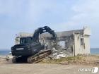 해안 시설물 철거하는 육군 50사단