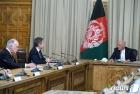 가니 아프간 대통령괴 회담하는 블링컨 국무