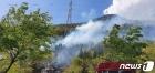 산림당국 등이 진화 중인 여수 산불