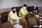 축구 승강제 대회 방역점검 나선 김정배