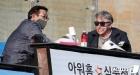 최일언 투수코치와 대화 나누는 김경문 감독